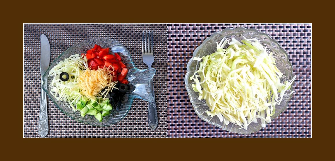 Salat zum Grillen frischer Salat