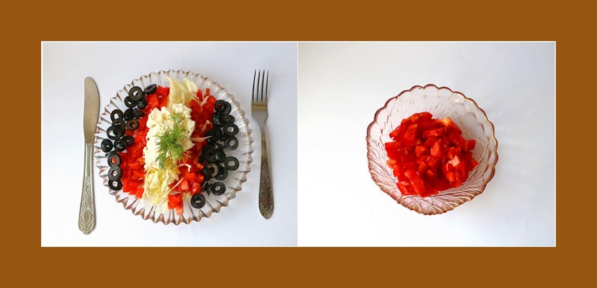 Tomatensalat einfacher Salat