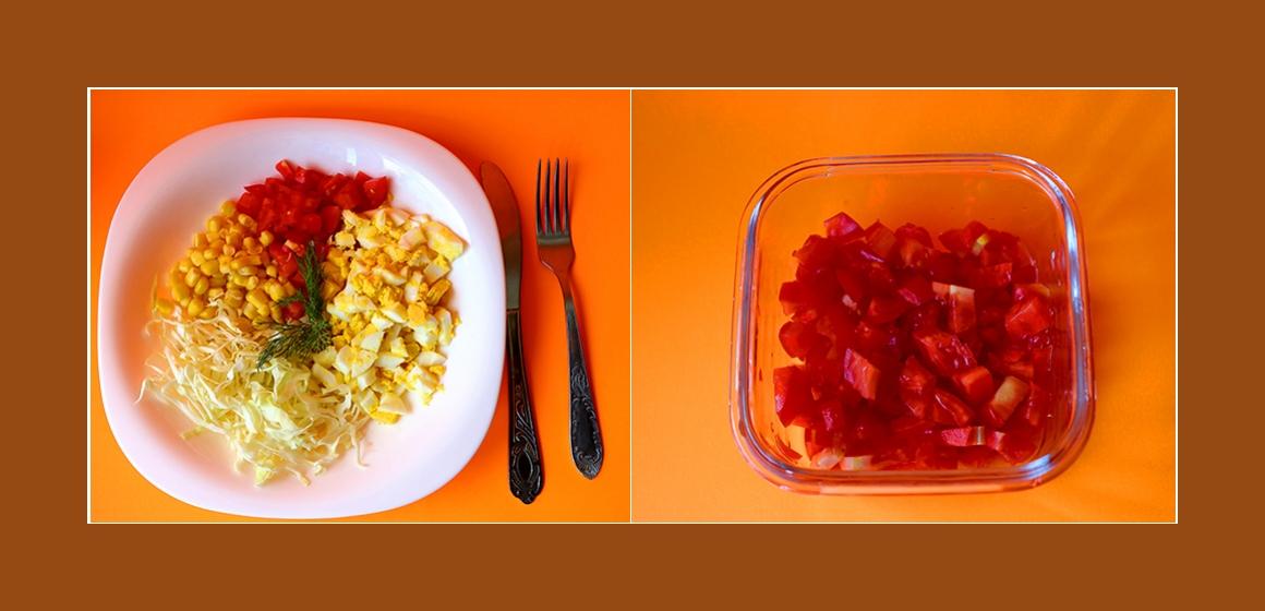 Tomaten-Kohl-Salat