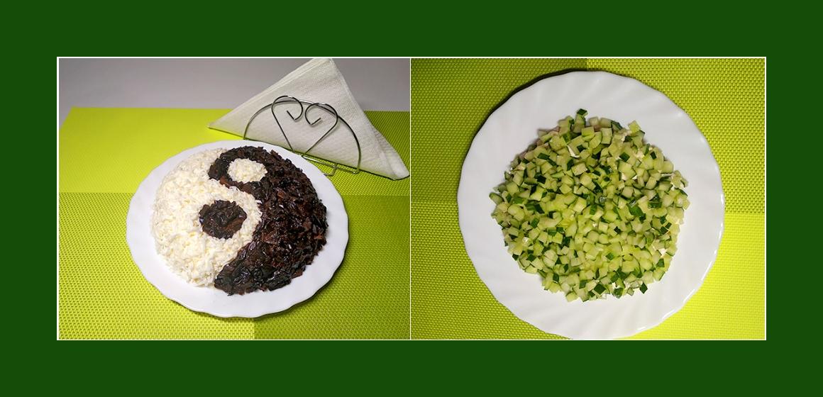pikanter Salat sanfter Salat