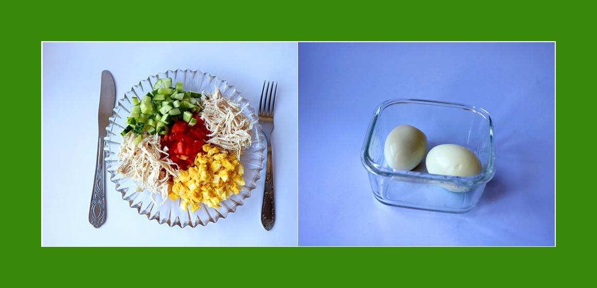 Tomaten-Gurken-Eier-Salat