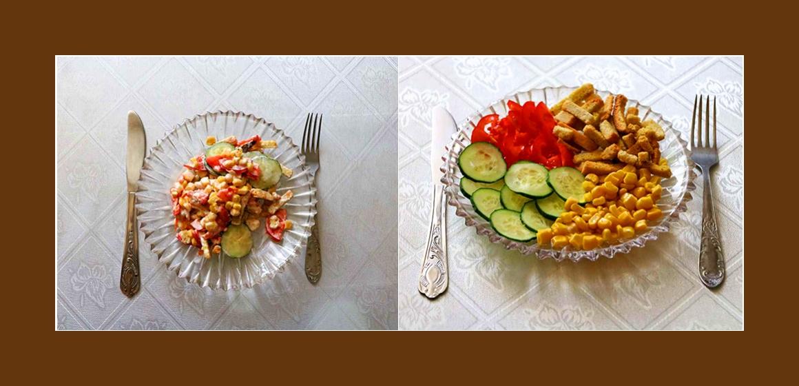 bunter Salat Gurkensalat
