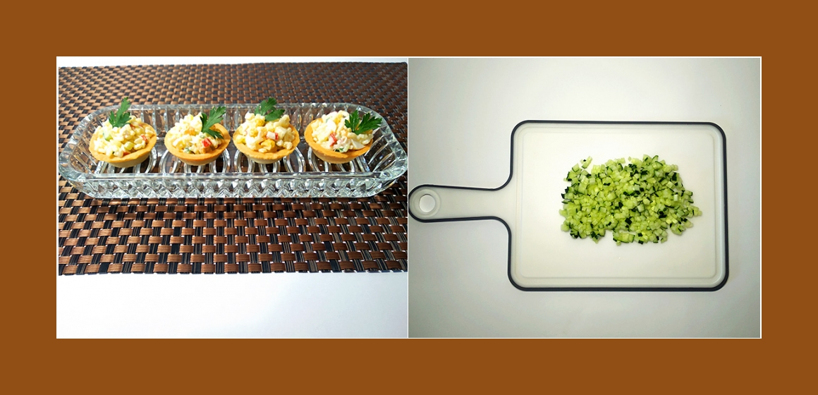 bunter Salat mit Krabbenstangen