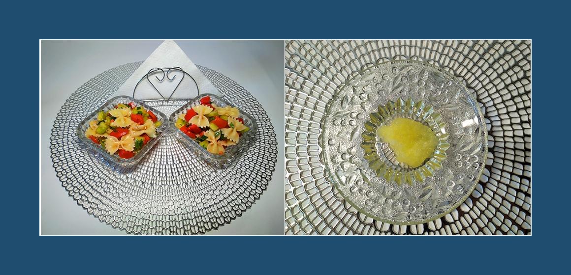 Salat mit Knoblauch und Petersilien