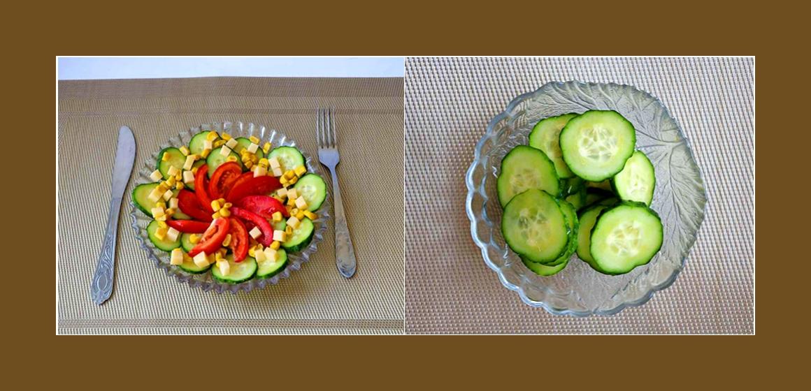 leichter Salat mit Soße