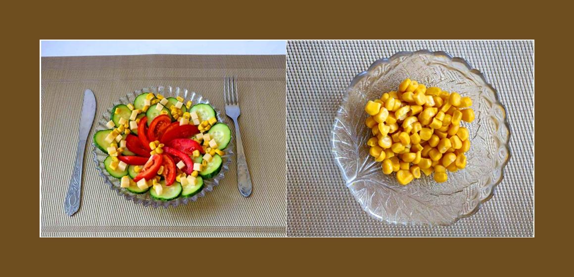 Sommersalat Gemüsesalat