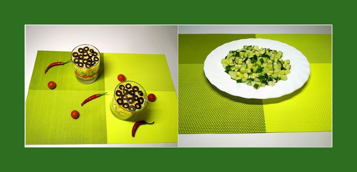 Schichtsalat mit Mayonnaise