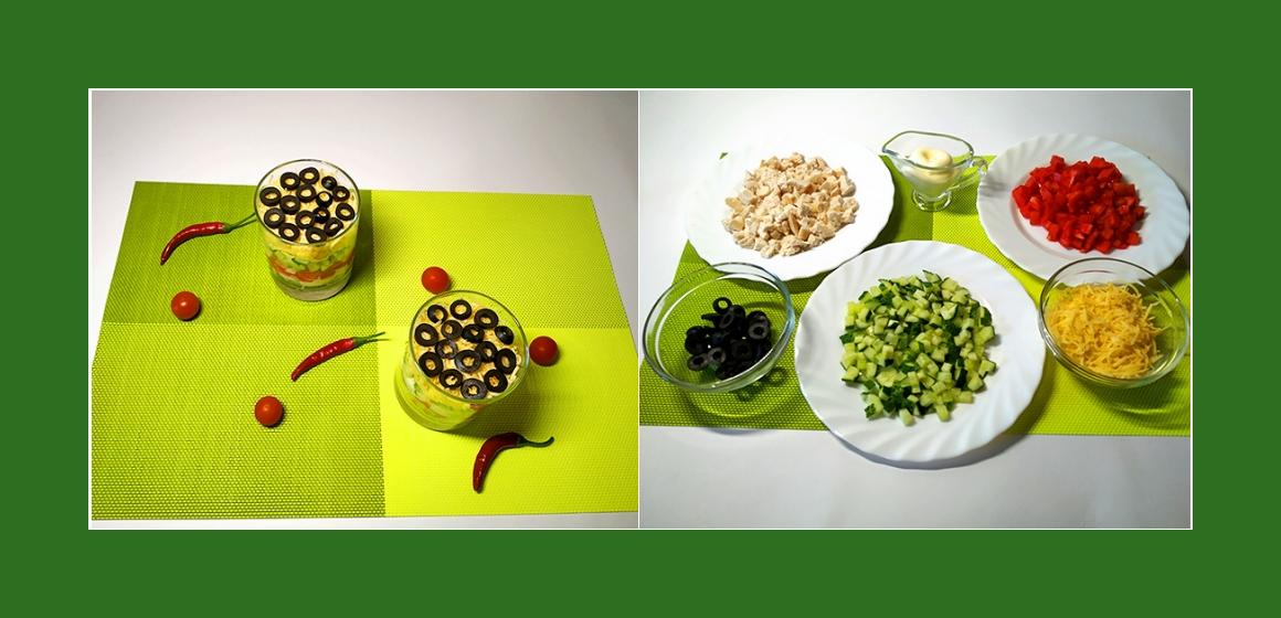nahrhafter Salat Schichtsalat