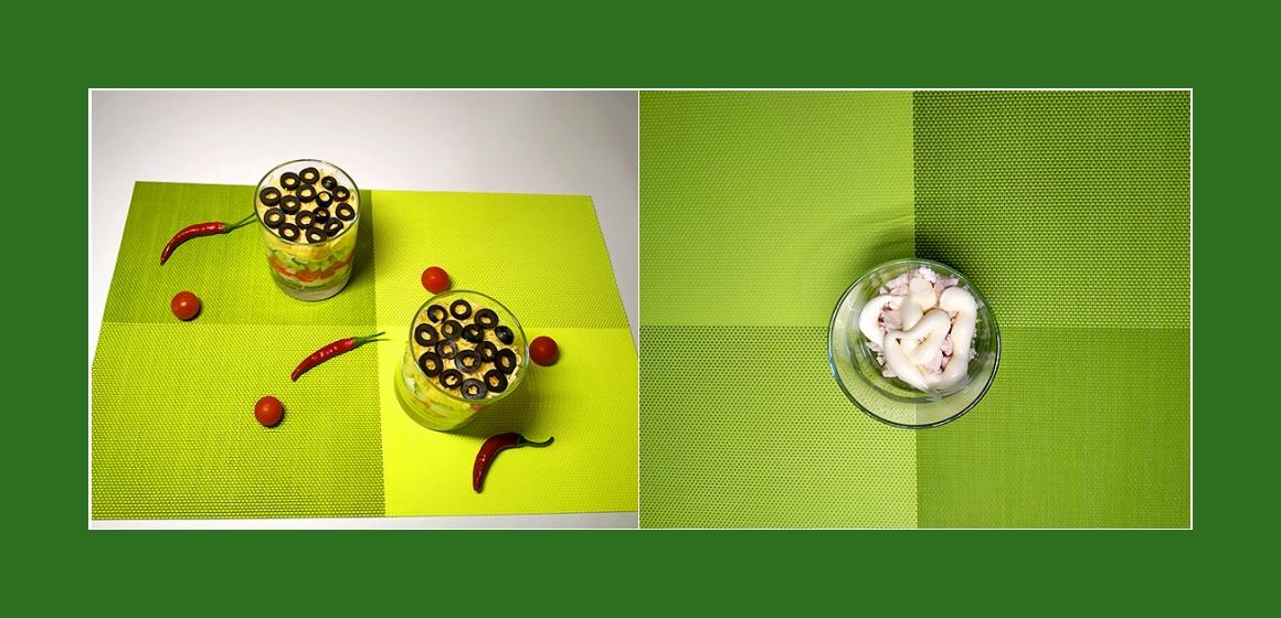 Salat mit Mayonnaise Schichtsalat