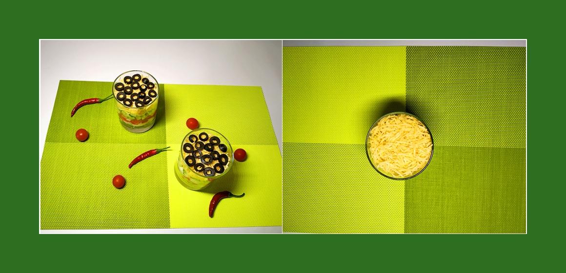 Salat mit Eiern Oliven