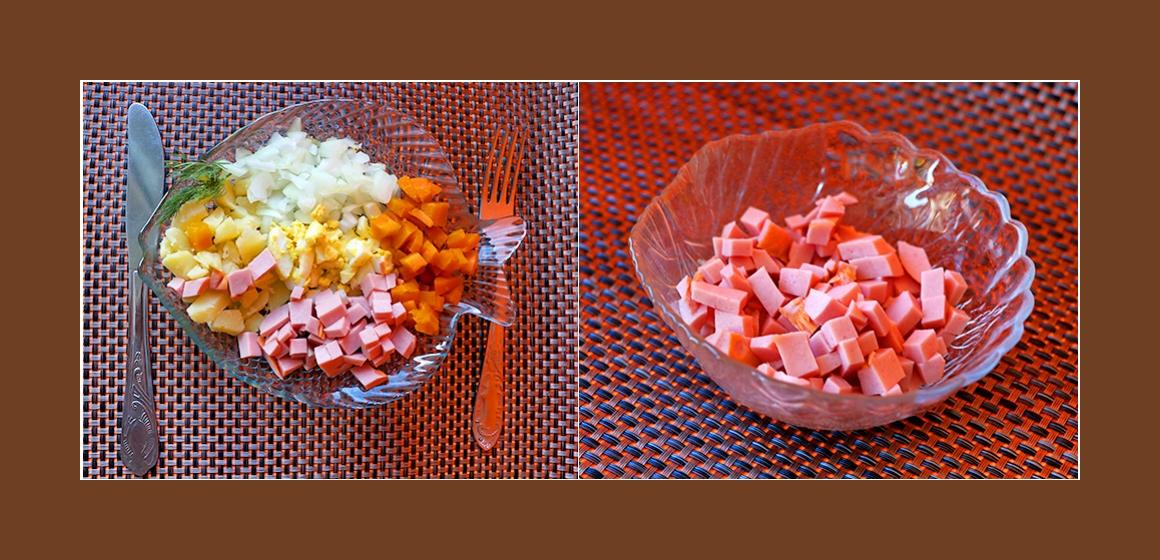 Salat mit Mayonaise