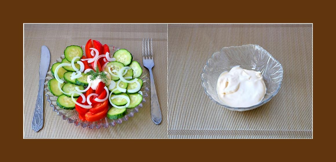 Salat mit Sahne einfacher Salat
