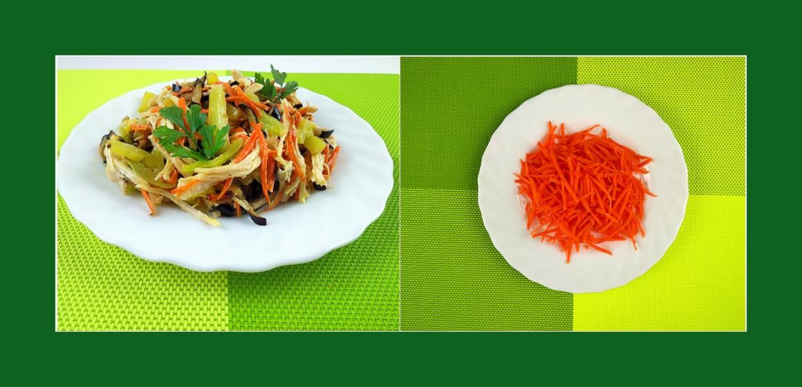 Gemüsesalat mit Hähnchen