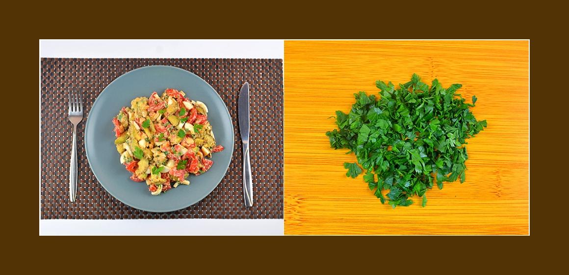 sanfter Salat gemischter Salat