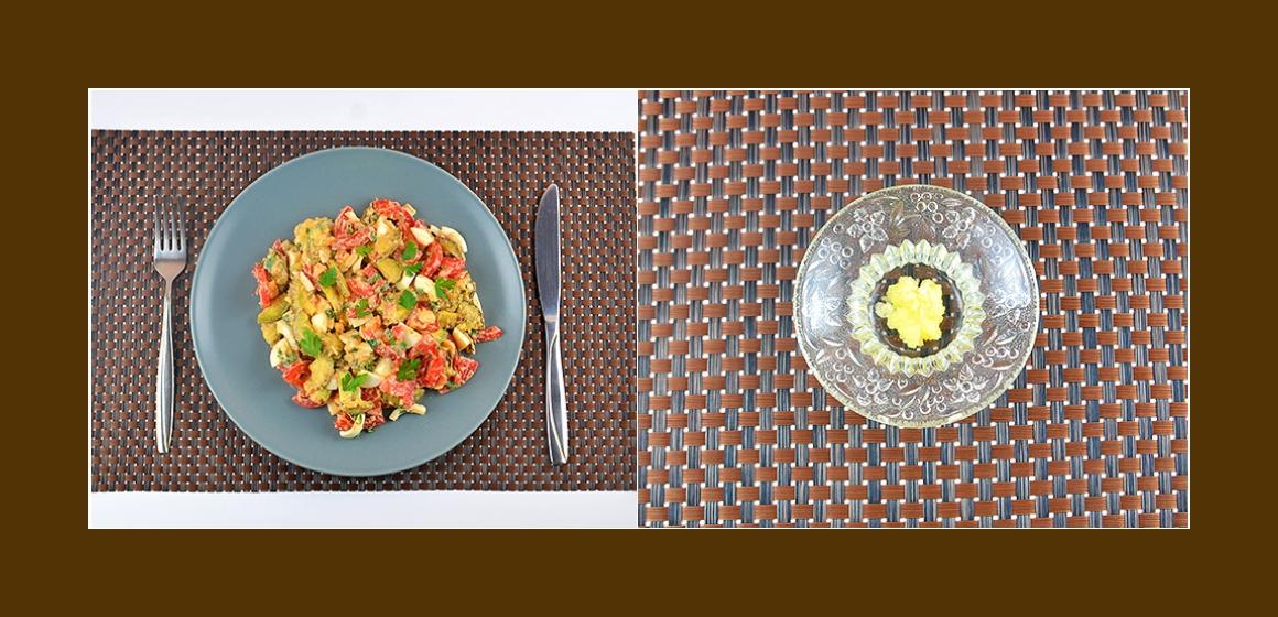 Salat mit Knoblauch Petersilien