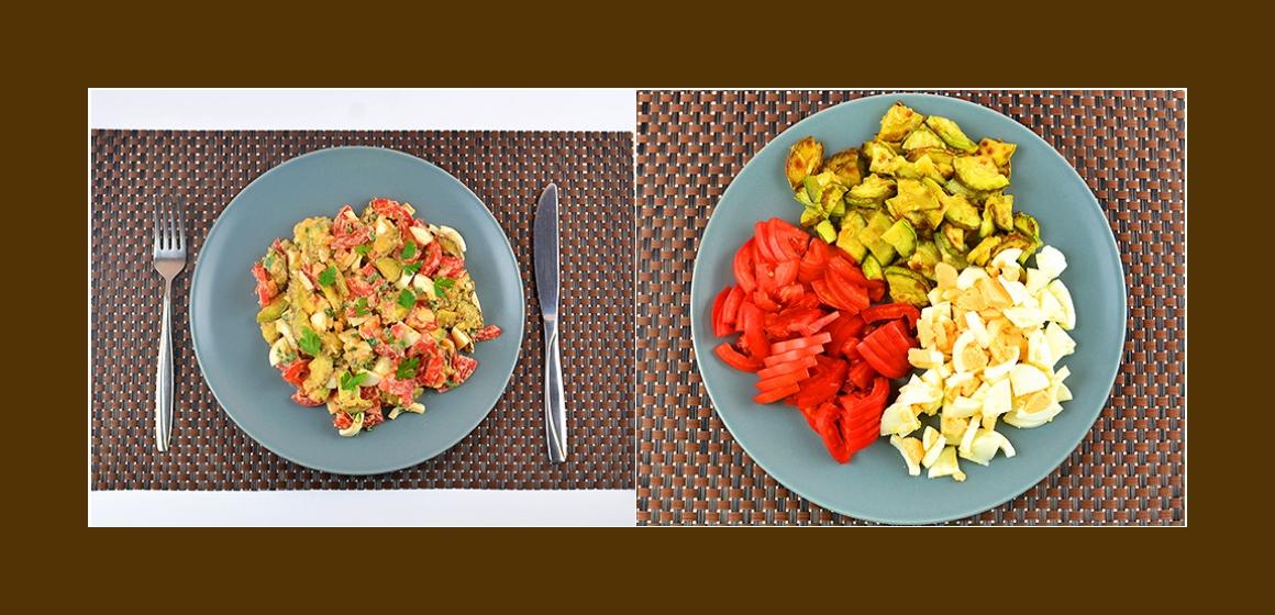 nahrhafter Salat Rezept Kalorien
