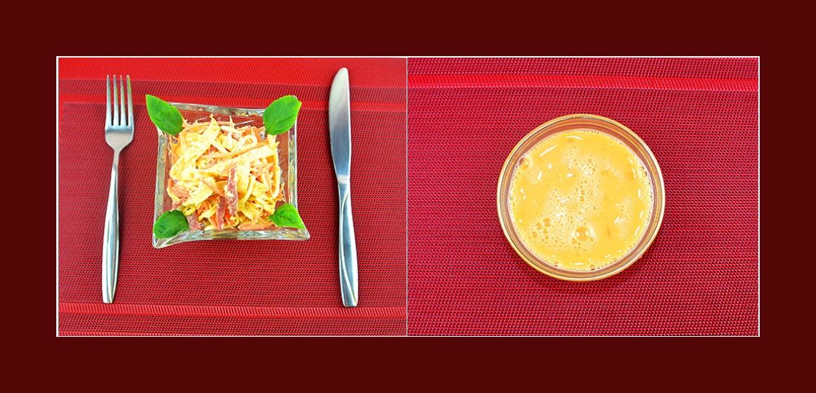 nahrhafter Salat Zutaten
