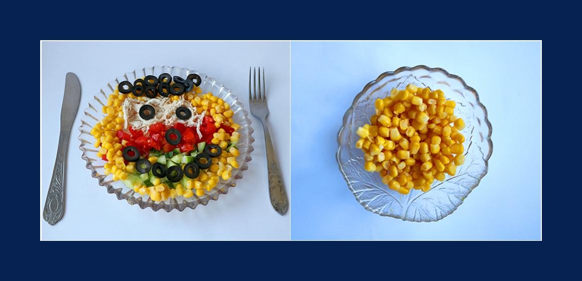Gurken-Tomatensalat mit Oliven