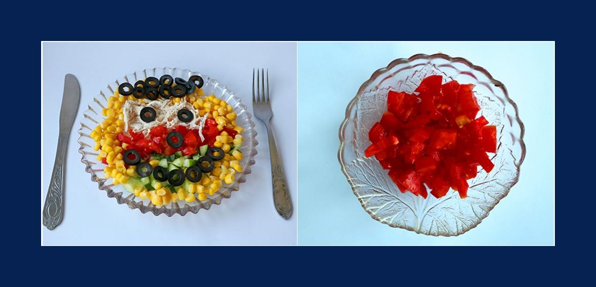 Tomatensalat Gemüsesalat