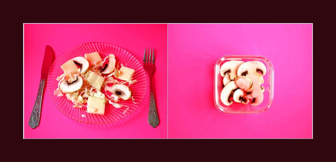 Salat mit Champignons Rezept