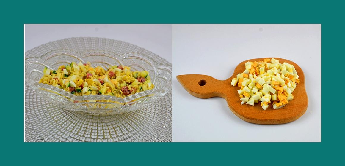 Eirn-Nudelsalat mit Gurken