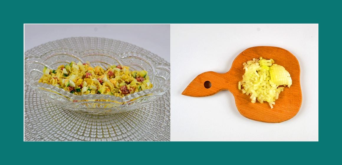 Gurken-Eiern-Nudel-Salat
