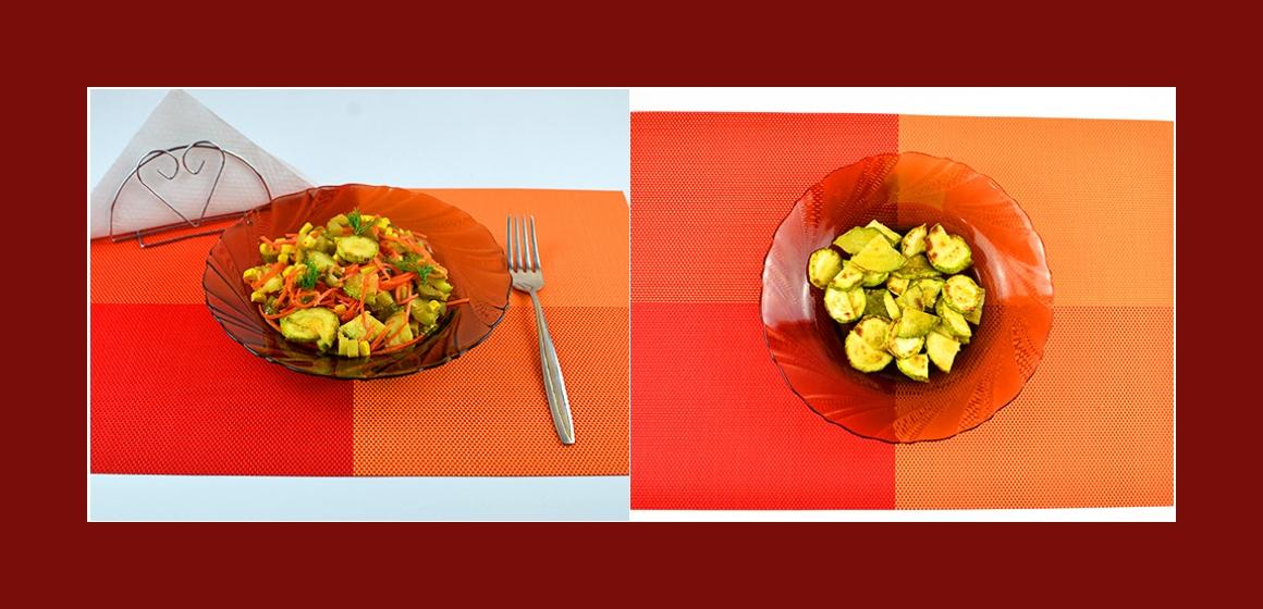 Zucchini-Möhren-Gurken-Salat