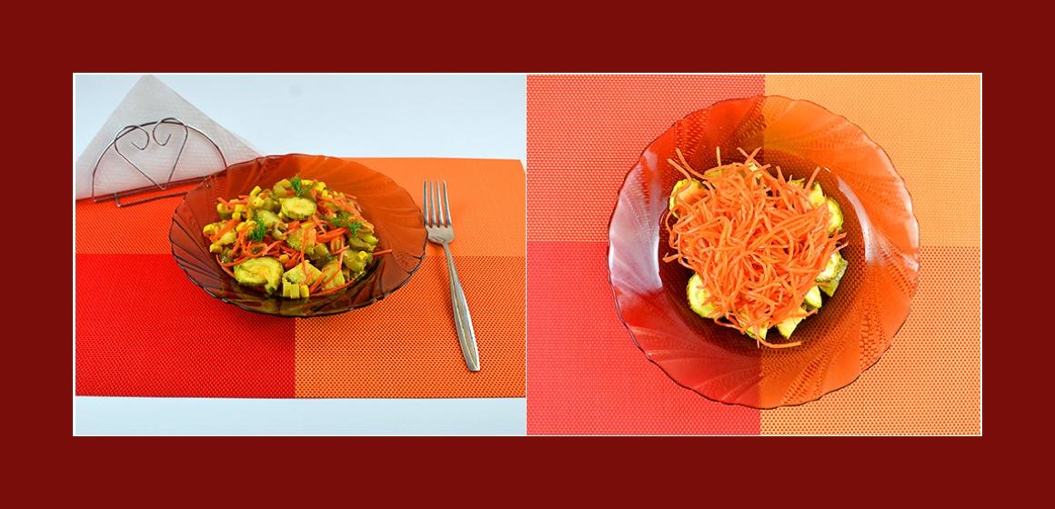 Möhrensalat gemischter Gemüsesalat