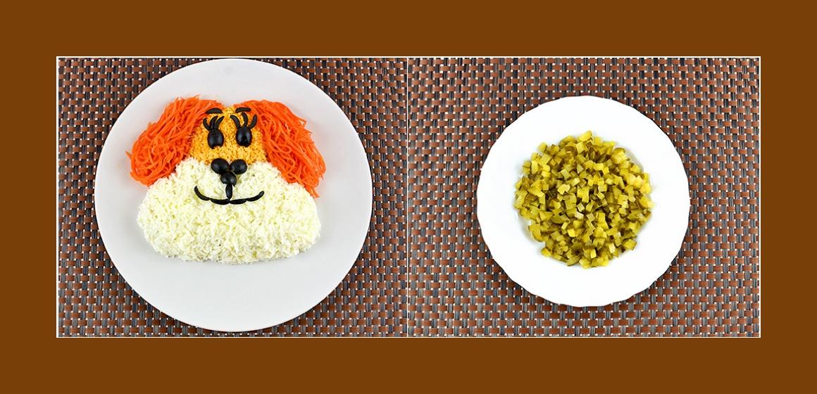 Gurken-Möhren-Eier-Salat