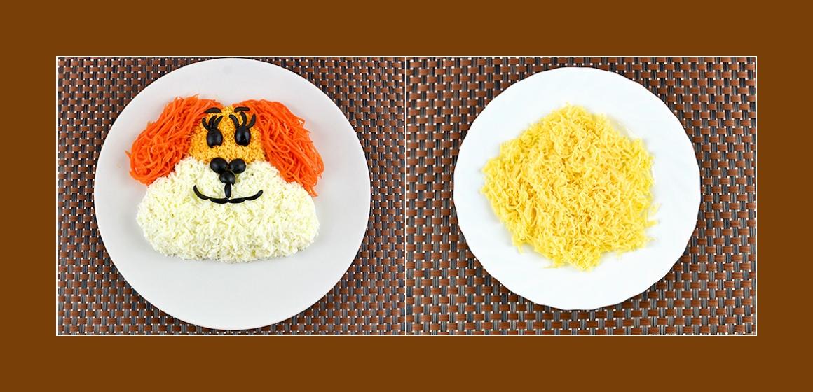 Käse, Gurken, Möhren Salat Rezept