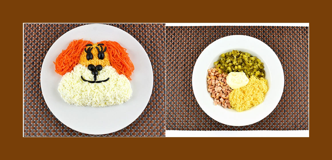 nahrhafter Salat mit Mayonnaise