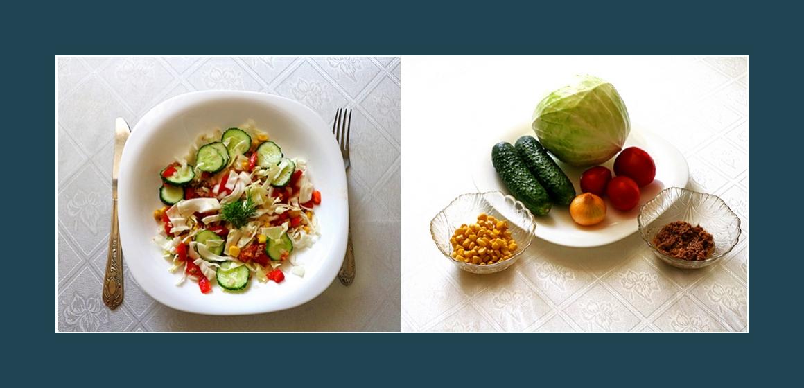 Bunter Gemüsesalat mit Thunfisch