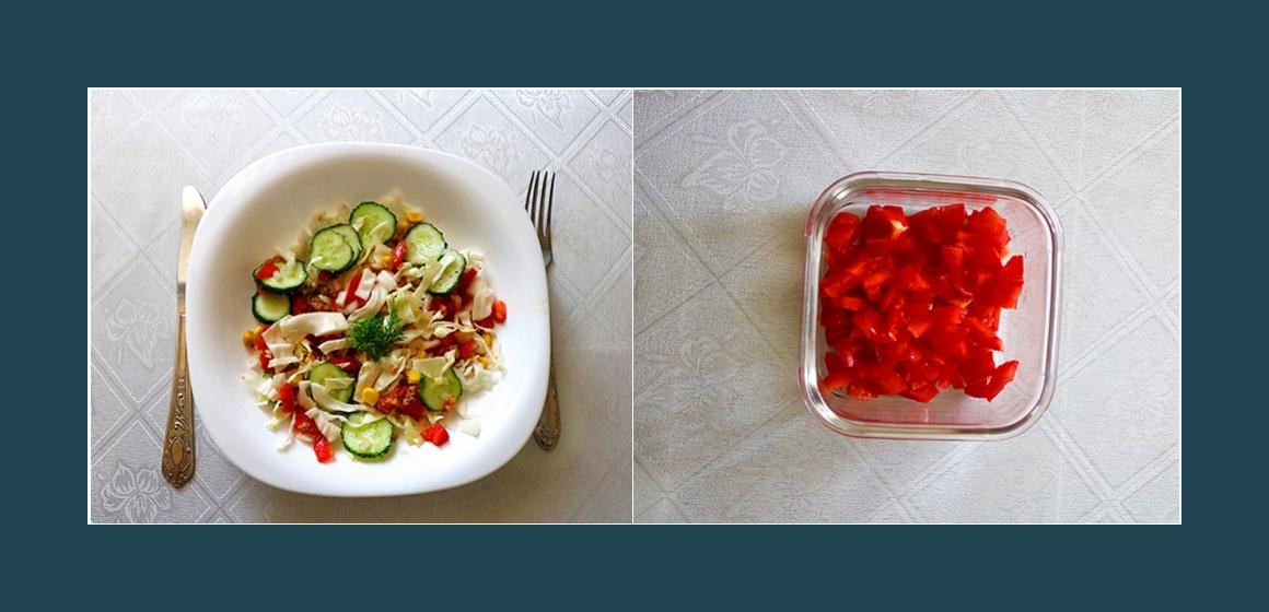 Tomaten-Gurken-Salat Gemüsesalat