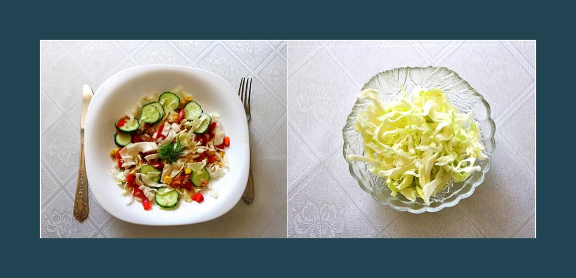 gemischter Salat mit Thunfisch
