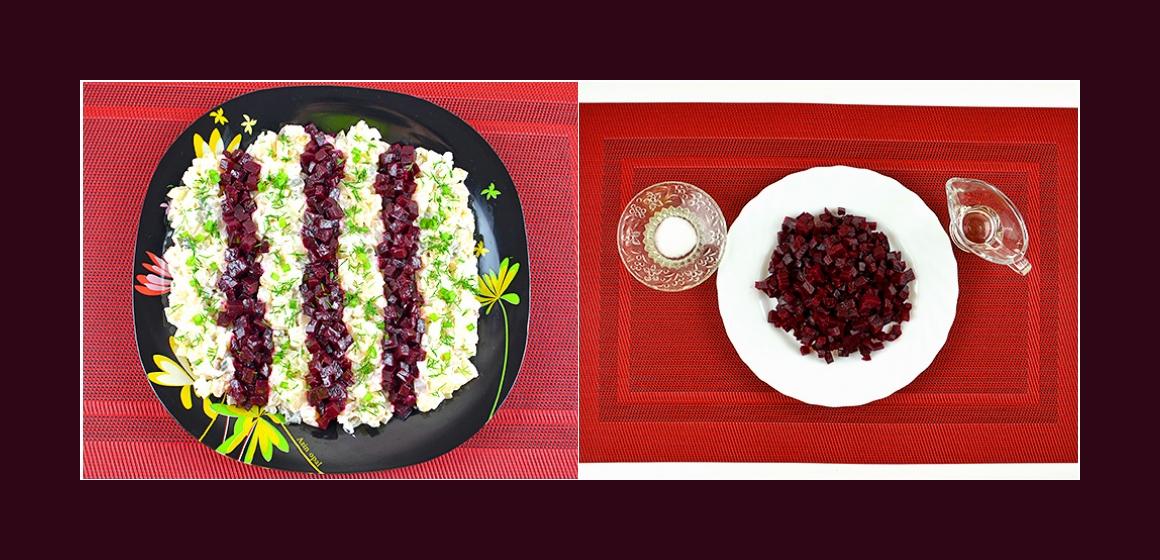 pikanter Salat nahrhafter Salat
