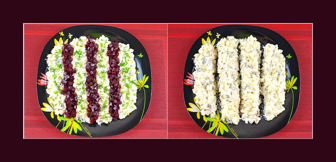 leckerer Salat mit Hering
