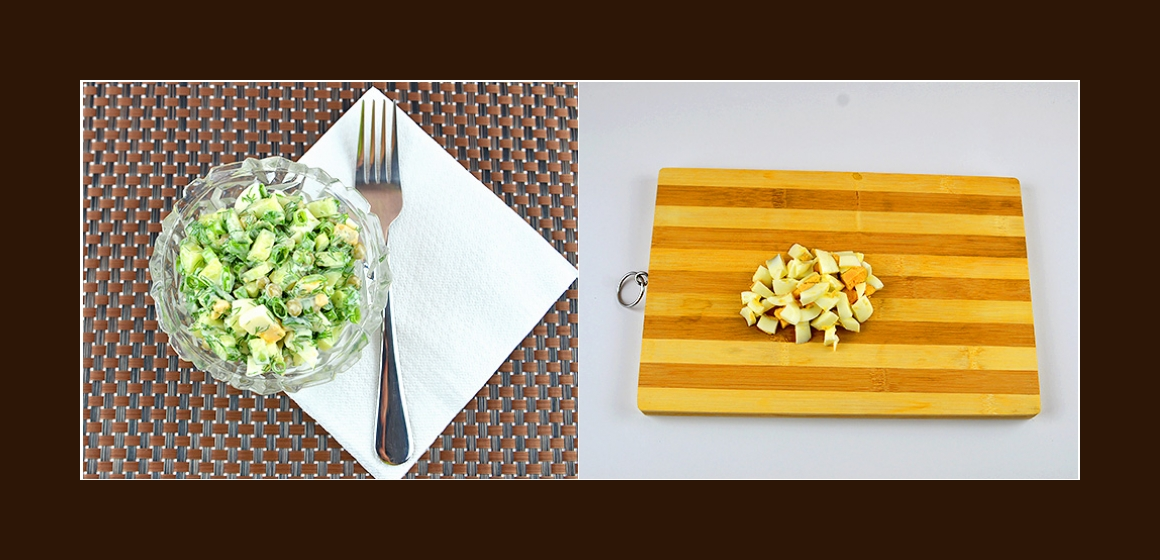 Salat mit Maynnaise Eiern