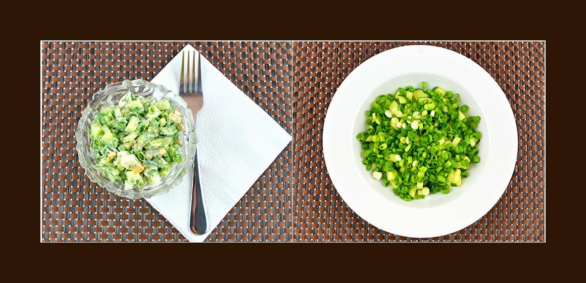 frischer Salat Sommersalat