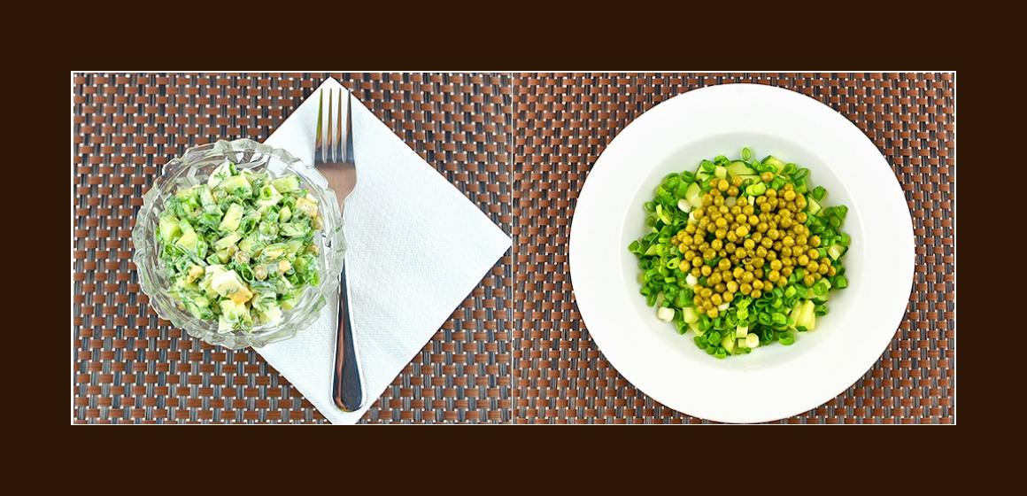 Erbsen-Gurken-Salat