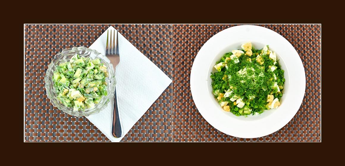 frischer Salat mit Dill
