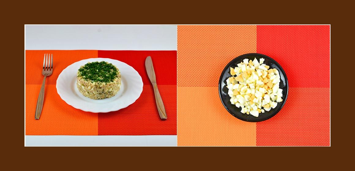 Schichtsalat leckerer Salat