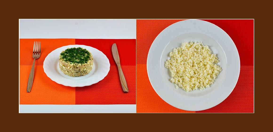 Reis-Eiern-Salat mit Sardinen