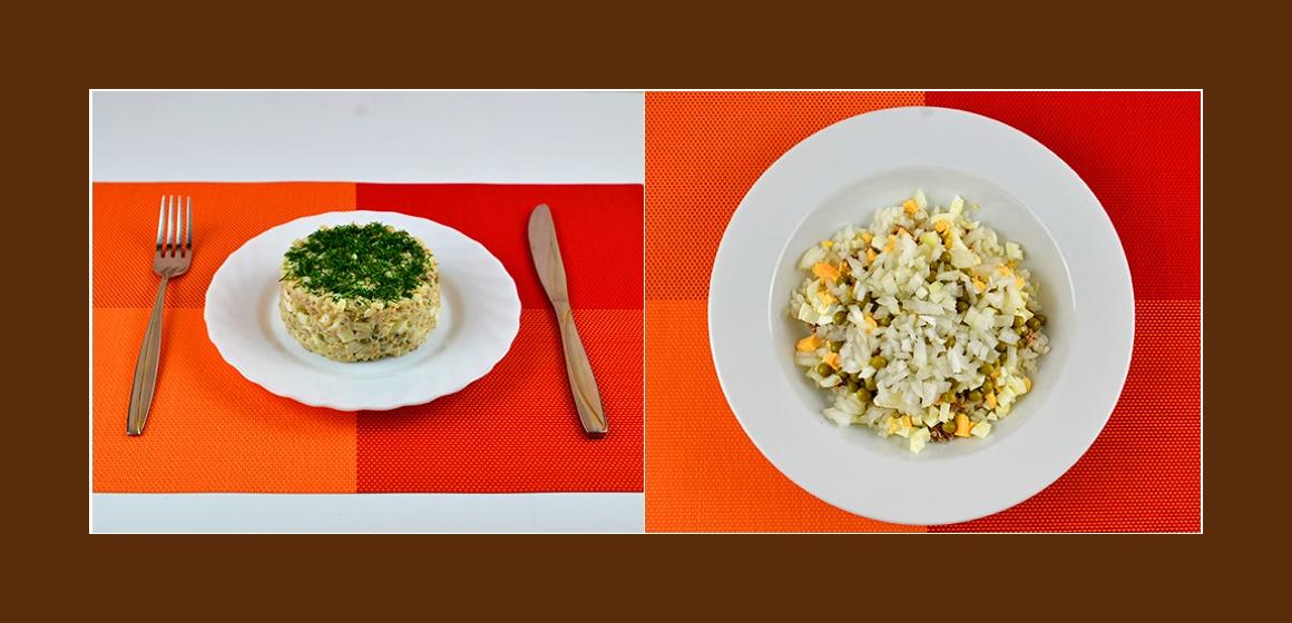 schmackhafter Schichtsalat mit Sardinen