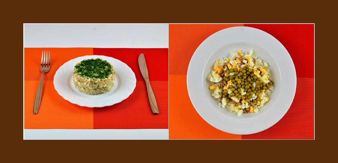 Erbsen-Eier-Reis-Salat