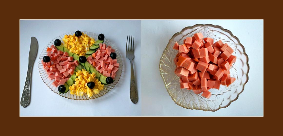 bunter Salat mit Oliven Zutaten