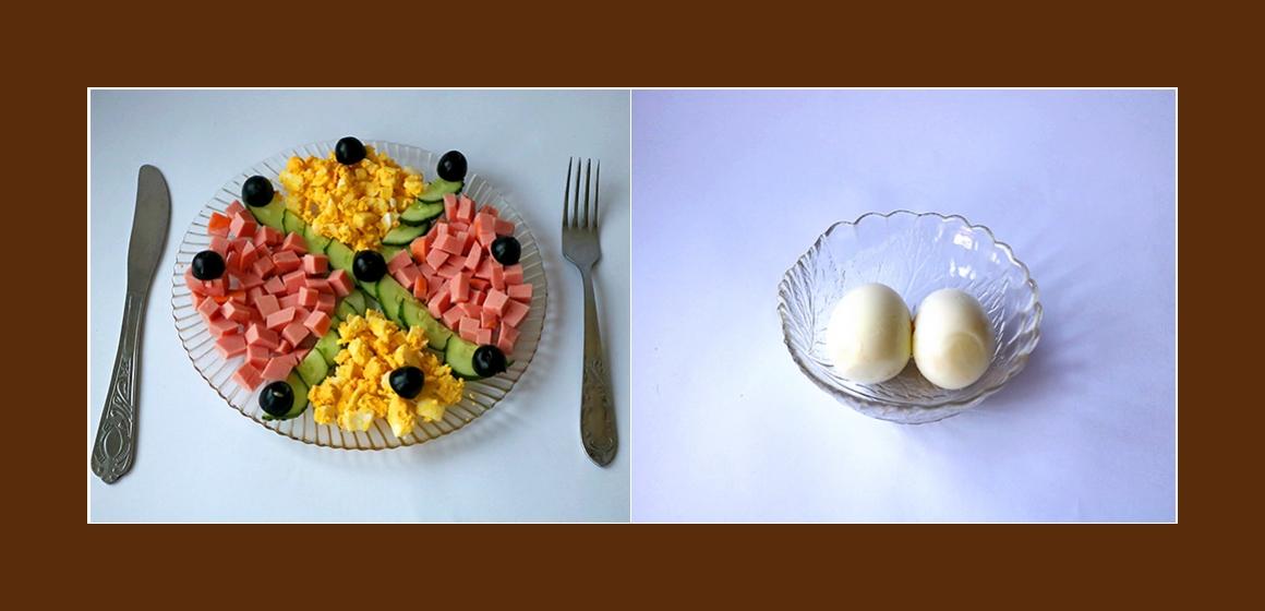 Eier.Wurst-Gurken-Salat