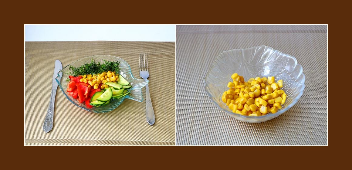 Gurken-MAis-Tomatensalat