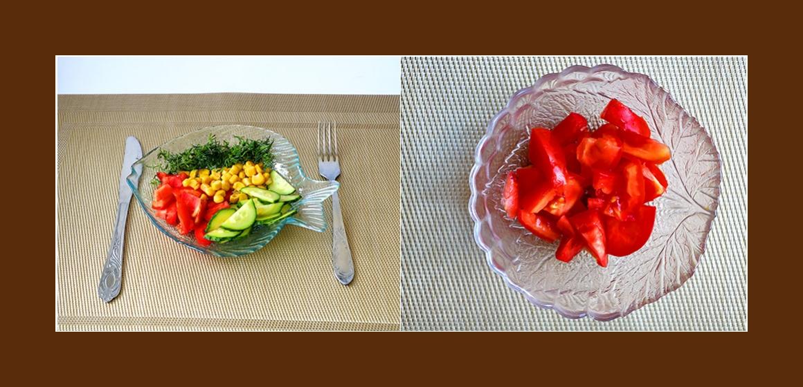 einfacher Salat frischer Salat