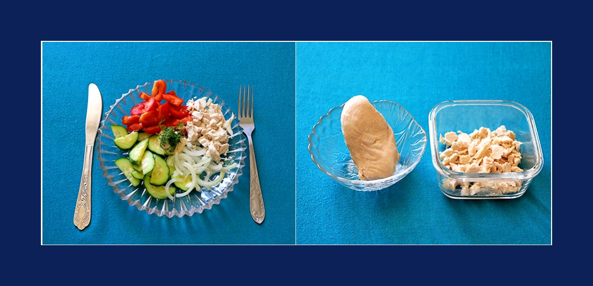Hähnchen-Gurken-Tomaten-Salat