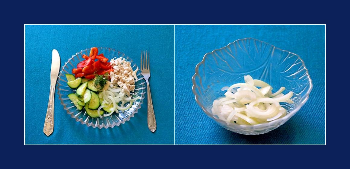 frischer Salat schneller Salat